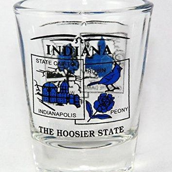 Indiana State Scenery Blue New Shot Glass