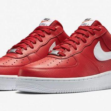 hcxx Nike Air Force 1 Low ?€?University Red?€?