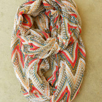 Zig Zag Circle Scarf [3810] - $16.00 : Vintage Inspired Clothing & Affordable Fall Frocks, deloom   Modern. Vintage. Crafted.