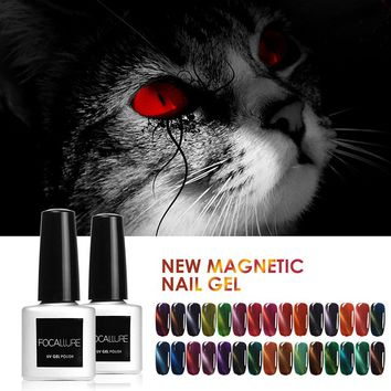 FOCALLURE 7ML Cat Eyes Finish Gel Polish UV Top Coat Chameleon Magnet UV Nail Gel Polish Hot Magnetic Nail Gel Polish