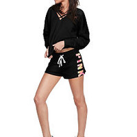 Strappy Front Varsity Pullover - PINK - Victoria's Secret
