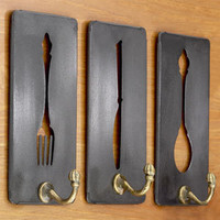 Metal Cutouts with Hook in Fork, Spoon and Knife, Set of 3 | Decorative Accessories| Home Decor | World Market