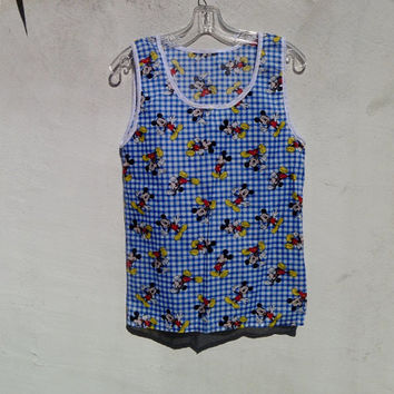 Vintage Mickey Mouse Tank made from Vintage Disney Fabric Original by Repose