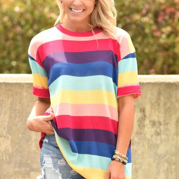 Simply Summer Striped Top