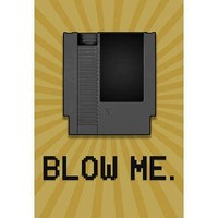 (13x19) 8-Bit Video Game Cartridge Blow Me Poster