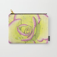 Rose - After the Rain Carry-All Pouch by drawingsbylam