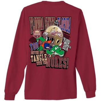 ONETOW NCAA Florida State Seminoles FSU VS FLA Gameday Garnet Long Sleeve Shirt