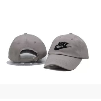 Gray Nike Authentic Embroidered Baseball Caps Hat