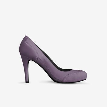 Levi Thang British High Heel Italian Leather Shoes Violet