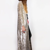 STUNNING Gold Sequin Duster Jacket