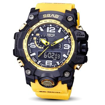 SBAO Watch LED Men Waterproof Sports Watches Shock Digital Electronic