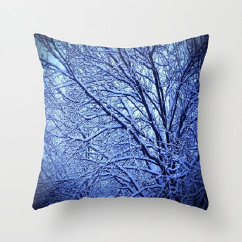 Decorative Pillow Cover Throw Pillow Home Decor Photo Pillow Cover Made To Order - Blue and White - #15