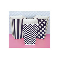 Popcorn Boxes - Black Chevron Polka Dot or Stripe for Candy Bar - Wedding Favors Party Favor