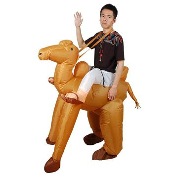 Fancy dress inflatable adult costume ride on costume cosplay suit for halloween party