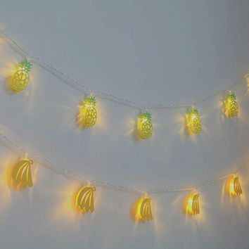 10Pcs Metal Fruit Shaped Bulb String Light