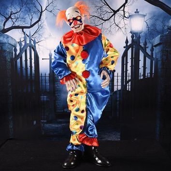 Novelty Halloween Party Haunted House Decorations Supplies Prank Joking Sound Control Cute Clown Joyful Music Children's Toys