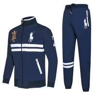 Polo Ralph Lauren autumn and winter new men's windproof ball suit casual suit two-piece Blue