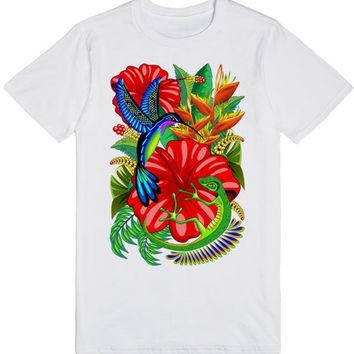 The Lizard, The Hummingbird and The Hibiscus | T-Shirt | SKREENED