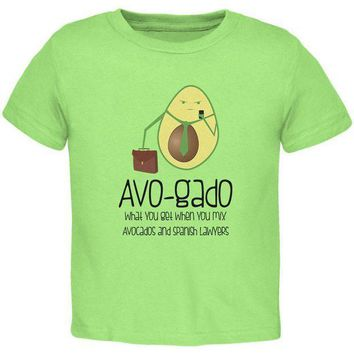 PEAPGQ9 Avocado Abogado Lawyer Funny Spanish Pun Toddler T Shirt