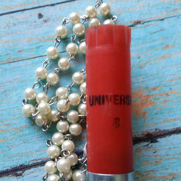 Shotgun Shell Rosary / Rosary Style Jewelry / Cowgirl Chic Jewelry / Bullet Jewelry / 12 Gauge / Outlaw Style Jewelry / Western Jewelry