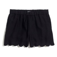 Madewell Scallop Hem Pull-On Shorts | Nordstrom
