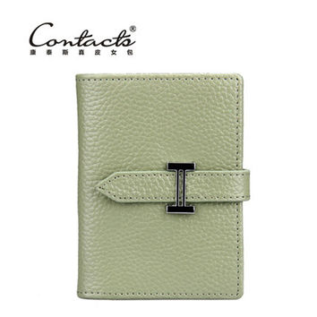 Leather Casual Silver Card Holder [9338152967]
