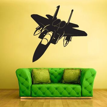 Wall Decal Decal Sticker Bedroom Decals Airplane Plane Aircraft  z684