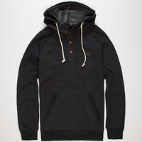 Volcom Pulli Mens Henley Hoodie Black  In Sizes