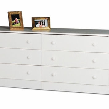 White Edenvale 6 Drawer Dresser