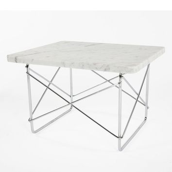 Eames Marble LTR Style Wire Base Table NIB MODERNE