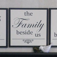 Bless The Food Before Us . Wooden Kitchen Sign . Wood Dining Room Sign . Painted Black Wood Sign Home Wall Decor . Wedding Family Love Sign