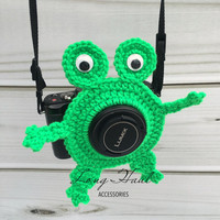 Frog Camera Accessory, Camera Accessory, Camera Buddy, Frog Crochet, Photography, Children Photography, Crochet Frog, Frog Lens Buddy