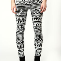 Laura Monochrome Aztec Knitted Leggings