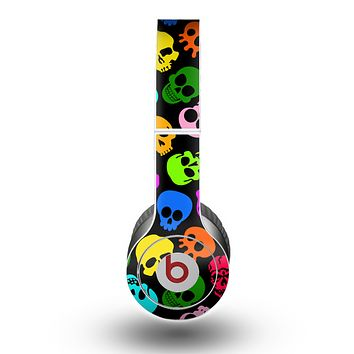 The Vivid Vector Neon Skulls copy Skin for the Beats by Dre Original Solo-Solo HD Headphones