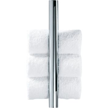 DWBA Chrome Guest Towel Holder Vertical Towel Rack, Hanger for Bathroom