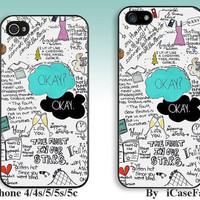 Fault in Our Stars---iPhone5 Case, iPhone 4 case, iphone 4s case,iPhone 5C Case, iPhone5s Case, iPhone Case,  iphone cover,phone case