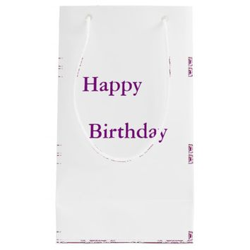 Border 1 purple small gift bag