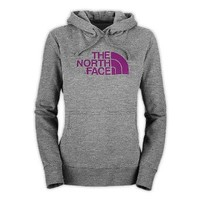 Women's The North Face Half Dome Hoodie Sweatshirt Heather Grey/Premiere Purple Size Medium