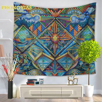 Pronovias 2017 Tapestry Psychedelic Celestial Indian Sun Tapestry Wall Hanging Throw Bohemian Door Curtain 145cmx165cm