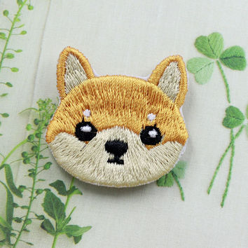 Cute Dog Shiba Patch Embroidered Cartoon Animal Sew on Iron on Patches