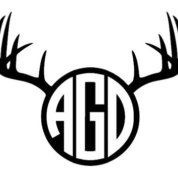 Personalized Antler Monogram Decal