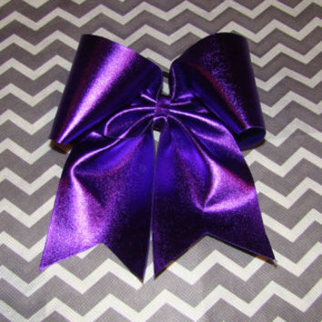 Purple Metallic Cheer Bow