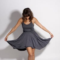 Women Summer Dress Gray