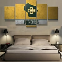Green Bay Packers 5 Piece Canvas Set