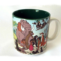 Walt Disney Coffee Mug Jungle Book Mowgli Characters Novelty Cup Vintage 1992