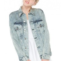 Brandy ♥ Melville |  Boyfriend Fit Denim Jacket - Clothing