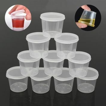 35ml Deli Food Sauce Holder Gravy Boat Soup Storage Containers Lids Set Reusable Portable Spice Boxes Kitchenware 30Pcs/Set