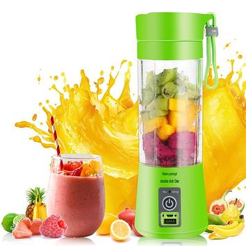 Portable USB Electric Fruit Juicer Bottle Blender