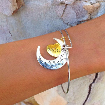 To the Moon and Back Bracelet - Sister