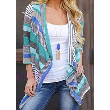 The Ashley Long Sleeve Tribal Print Cardigan